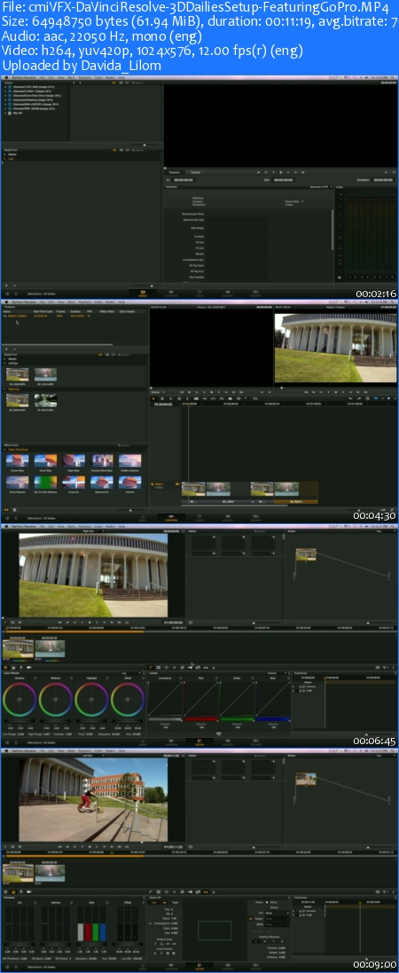 cmiVFX - DaVinci Resolve 3D Dailies Setup Featuring GoPro