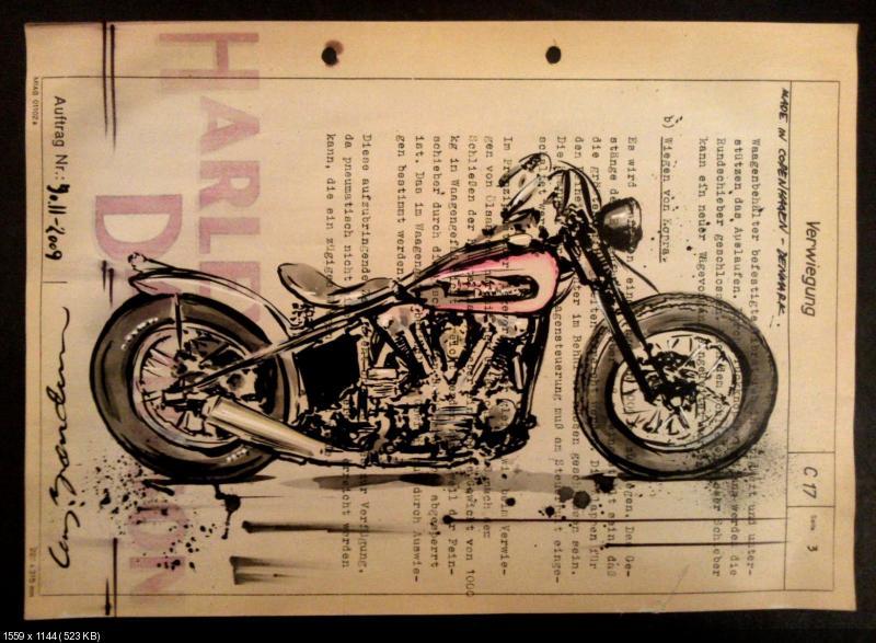 Мото Арт - Кей Брендум. Рисунки мотоциклов