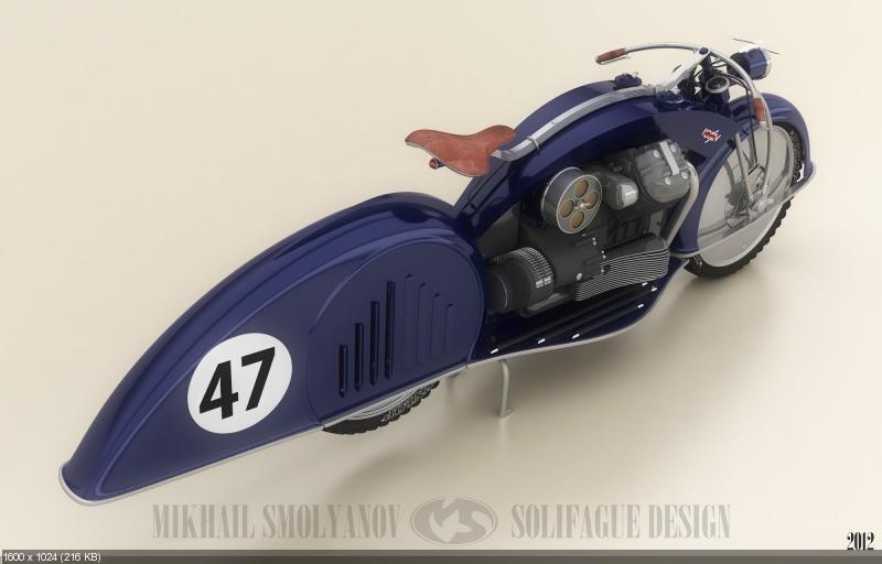 Михаил Смолянов: концепт мотоцикла VSN 47