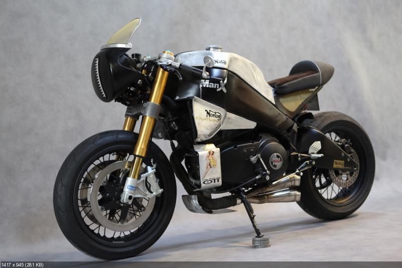 Кастом Buell XB12S Neoretro - дань Norton Manx