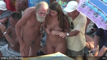 christmas old and young oral sex exchange between