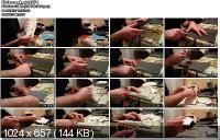 Заточка складого ножа на наждачной бумаге (2012)